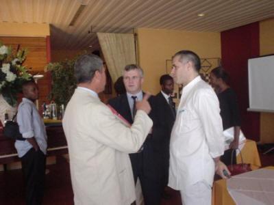 Ignacio SERE con el cuerpo diplomatico en RDC
